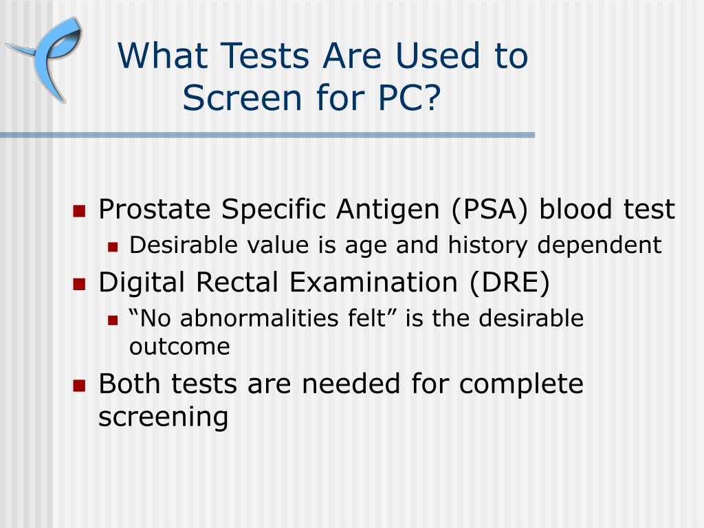 What Tests Are Used to Screen for PC?