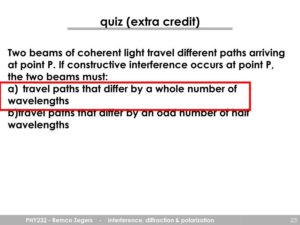 quiz (extra credit)