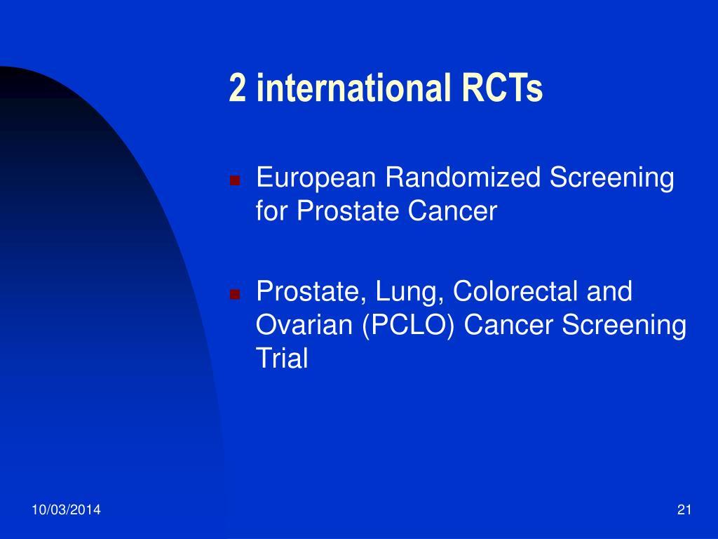 2 international RCTs