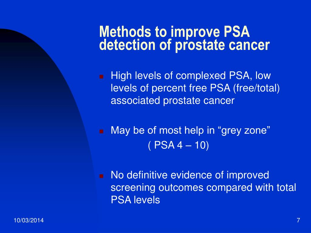 Methods to improve PSA detection of prostate cancer