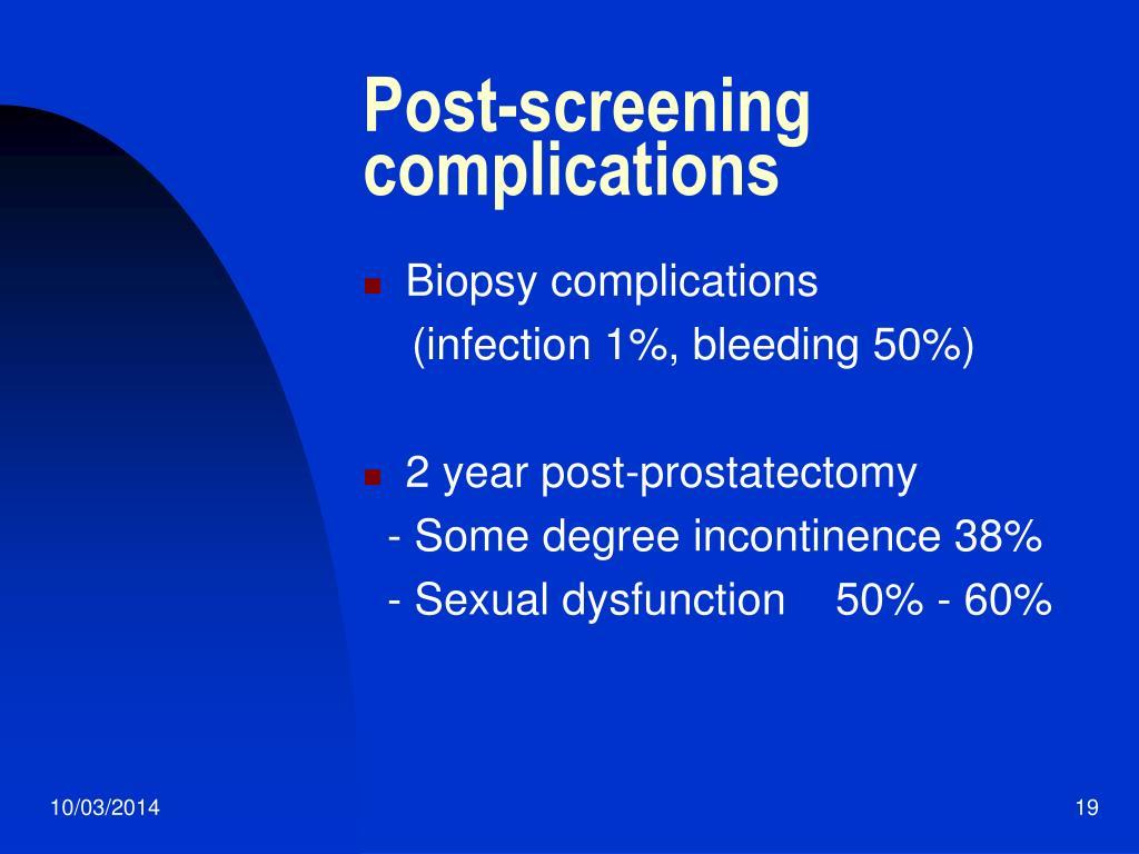 Post-screening complications