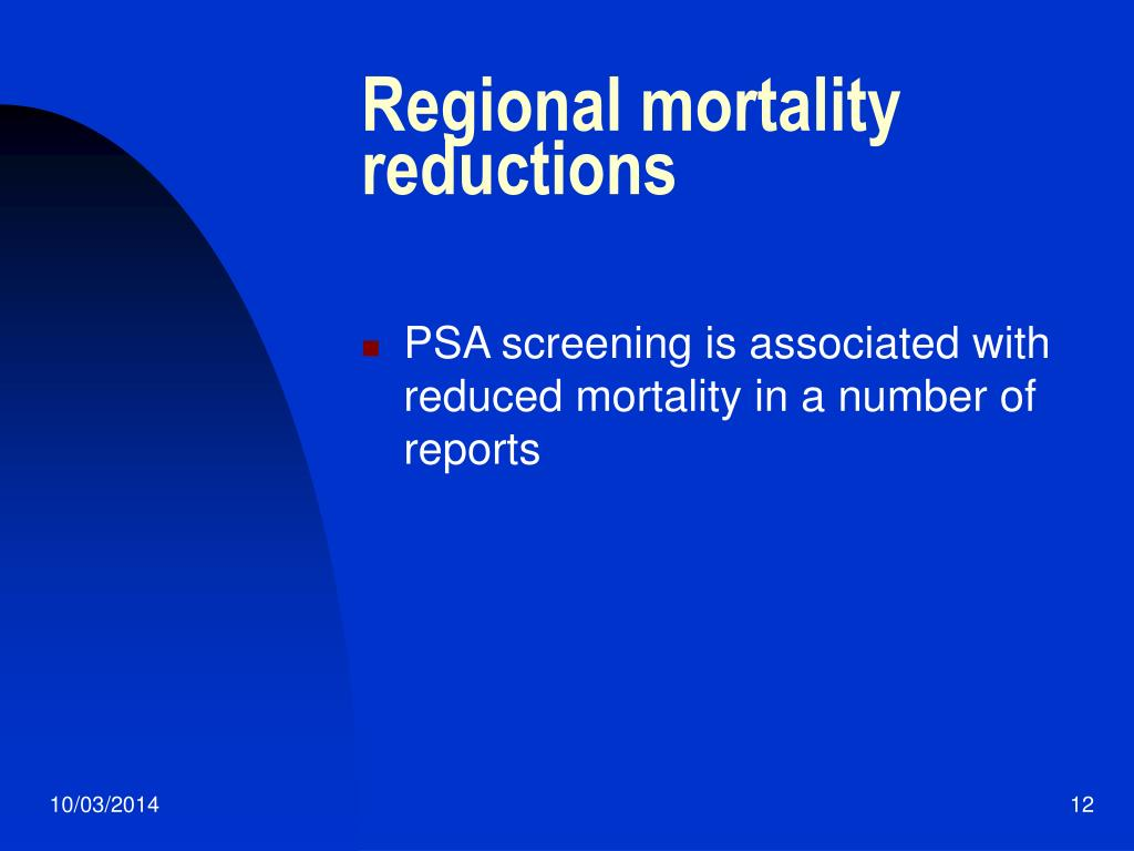 Regional mortality reductions