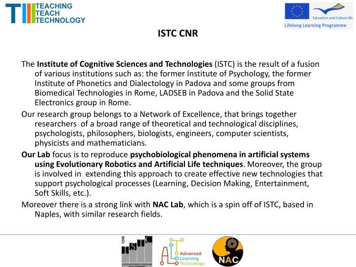 ISTC CNR