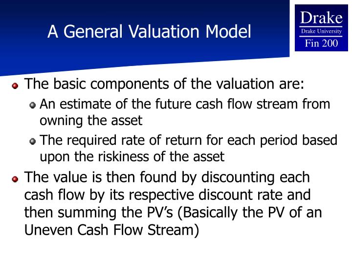 A general valuation model