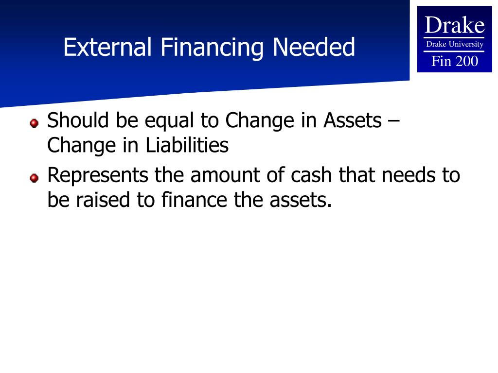 External Financing Needed