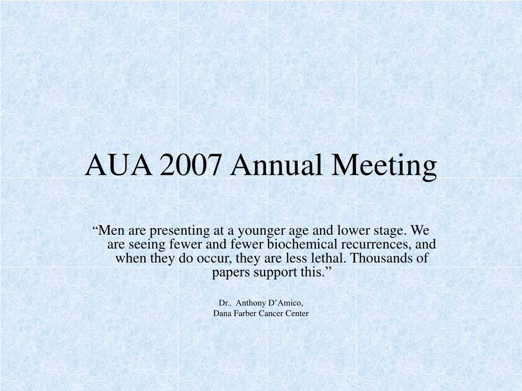 AUA 2007 Annual Meeting