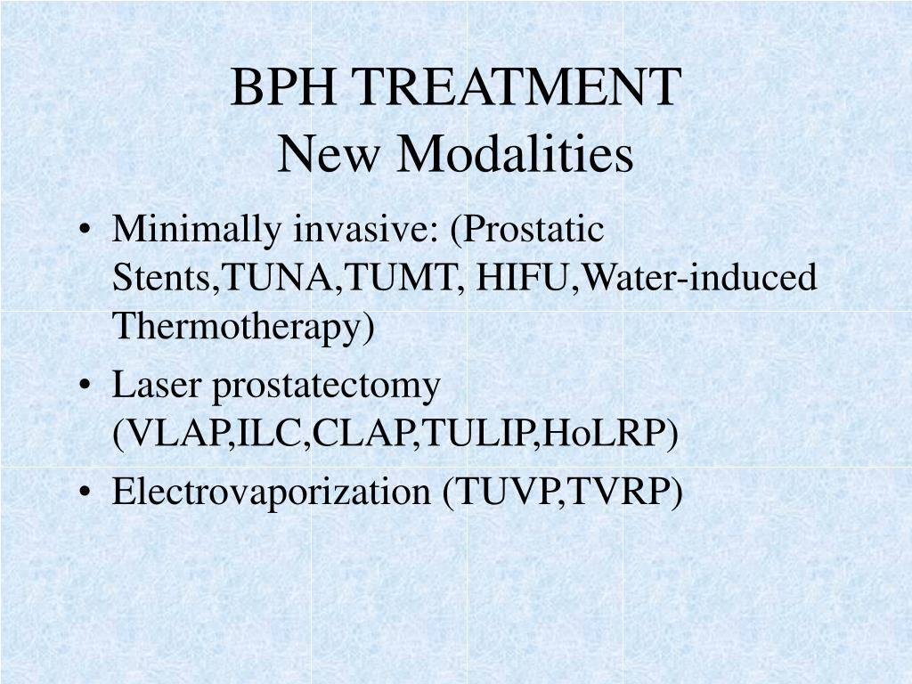 BPH TREATMENT