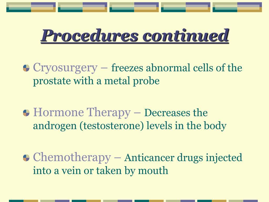 Procedures continued