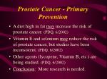 prostate cancer primary prevention