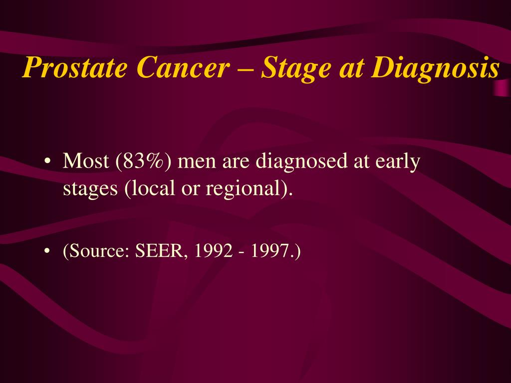Prostate Cancer – Stage at Diagnosis