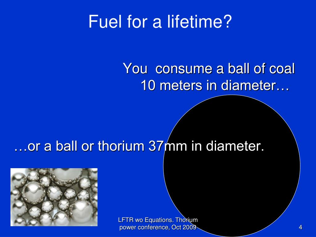 Fuel for a lifetime?