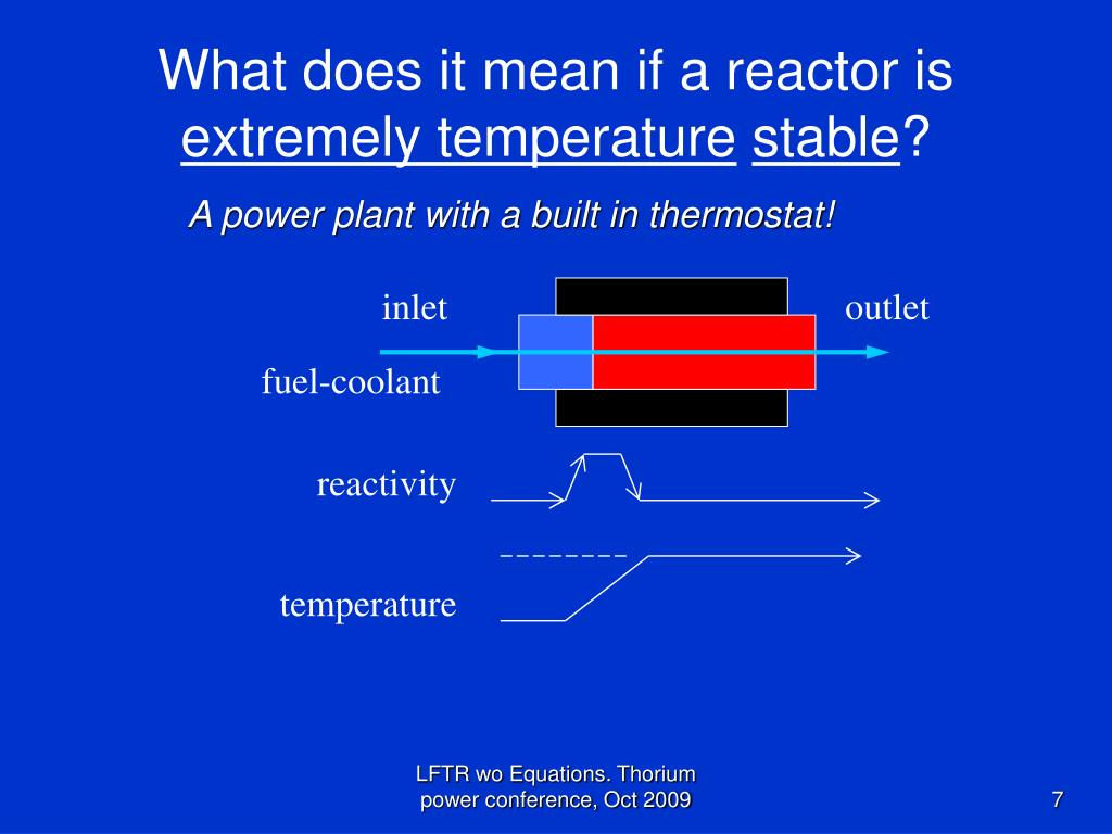 What does it mean if a reactor is
