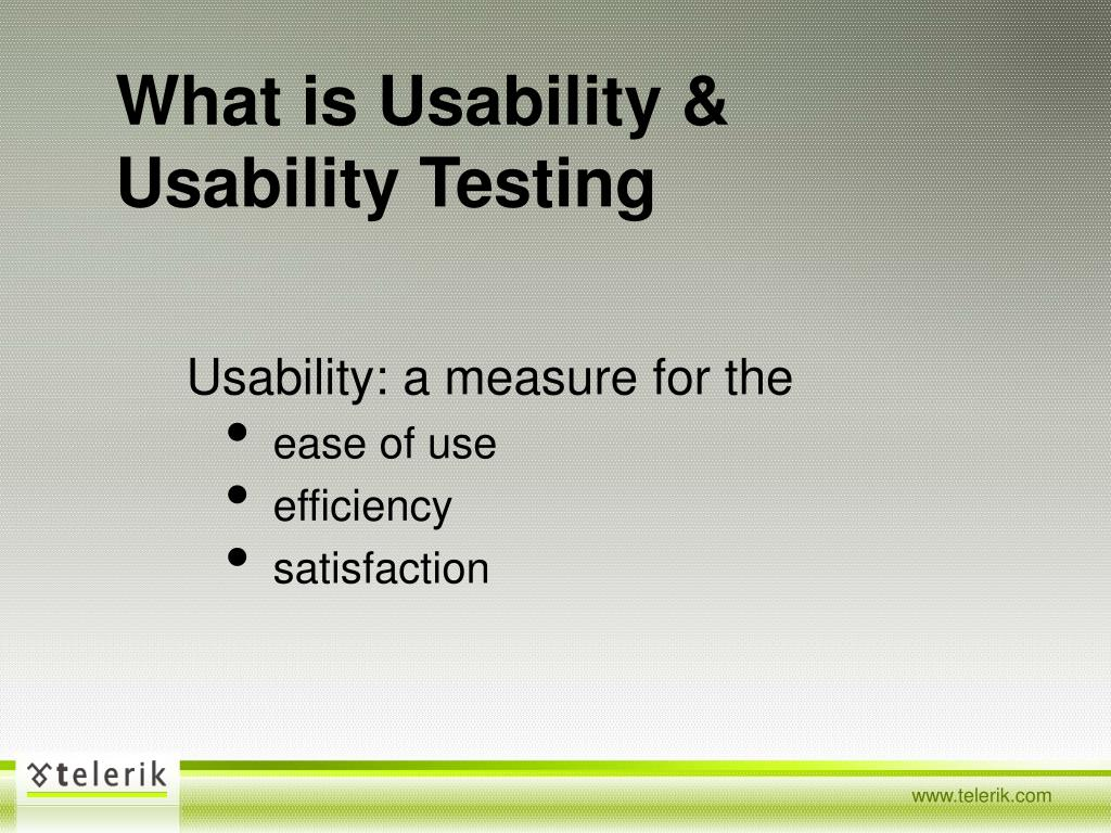 What is Usability & Usability Testing