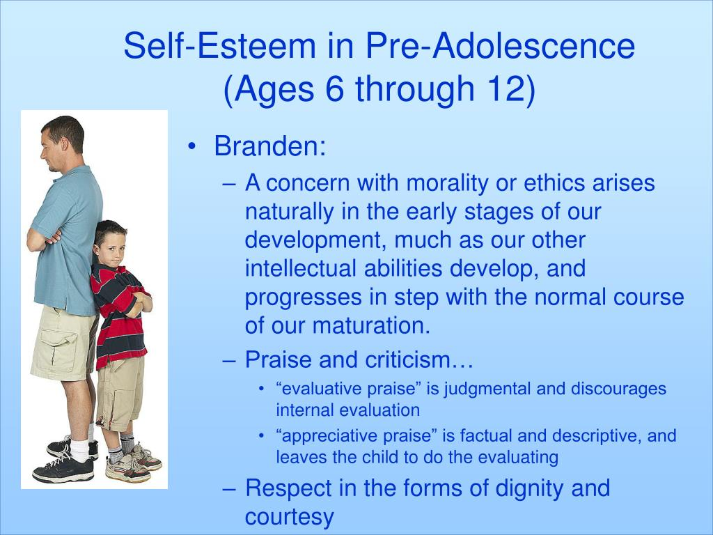 Self-Esteem in Pre-Adolescence