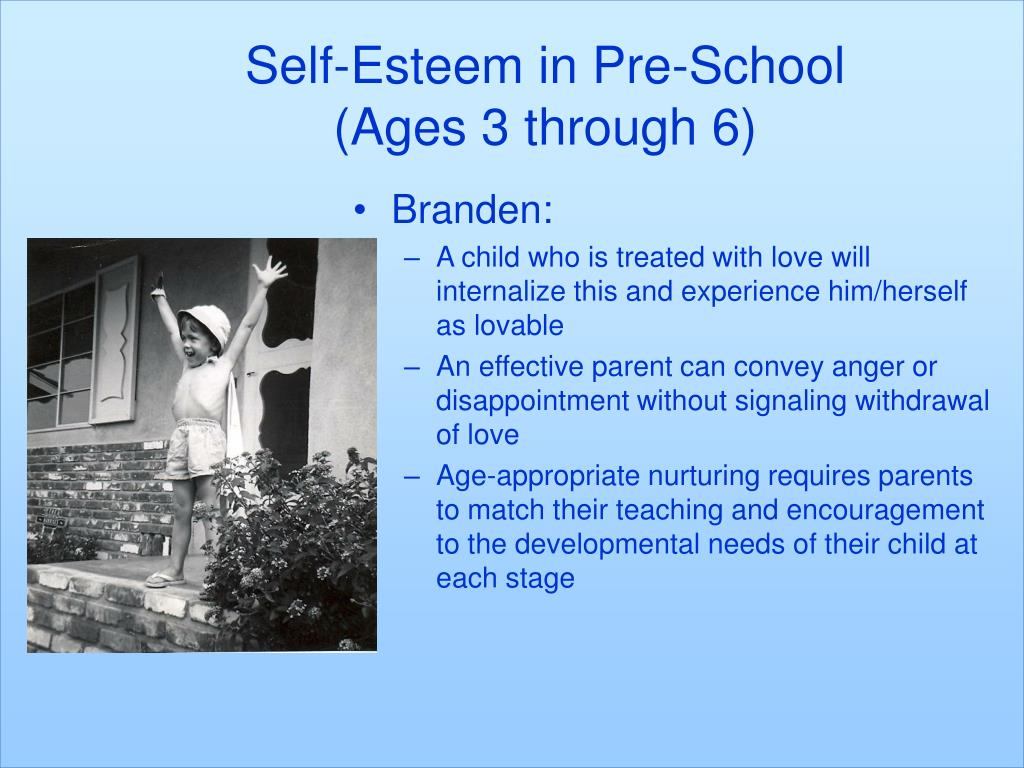 Self-Esteem in Pre-School