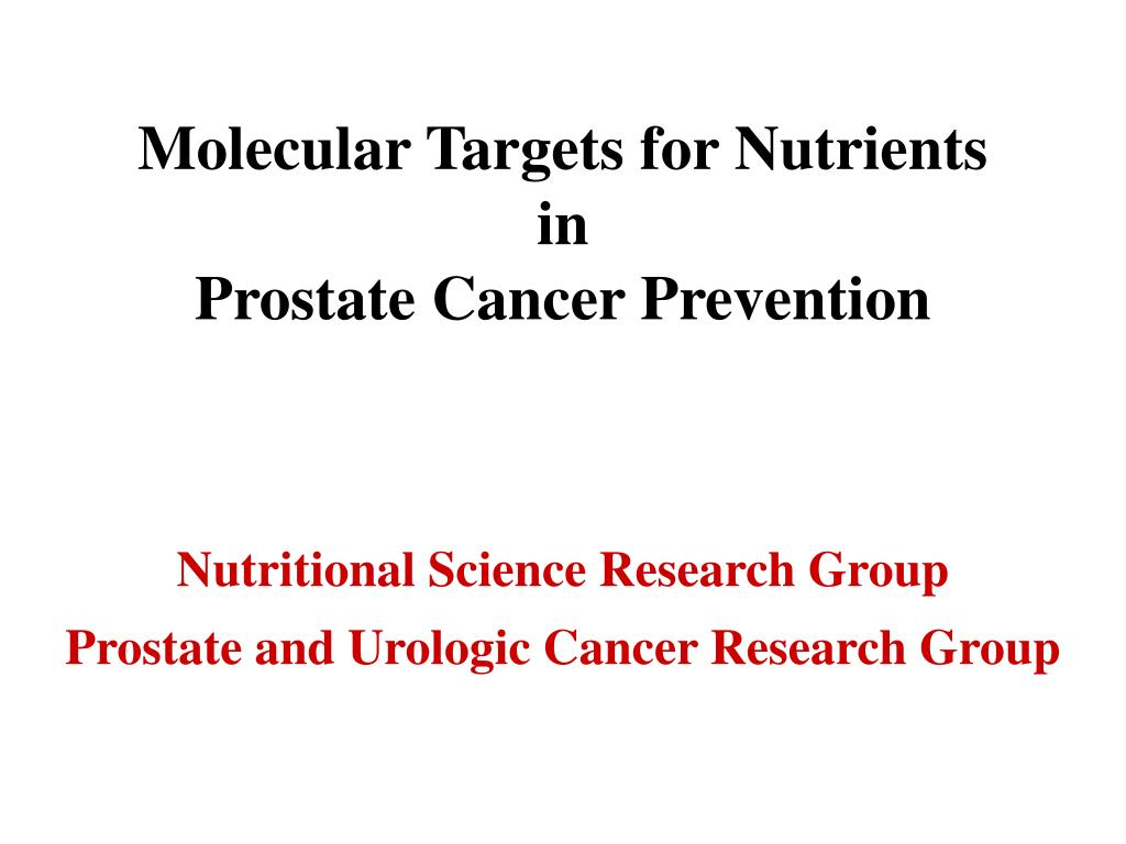 Molecular Targets for Nutrients in