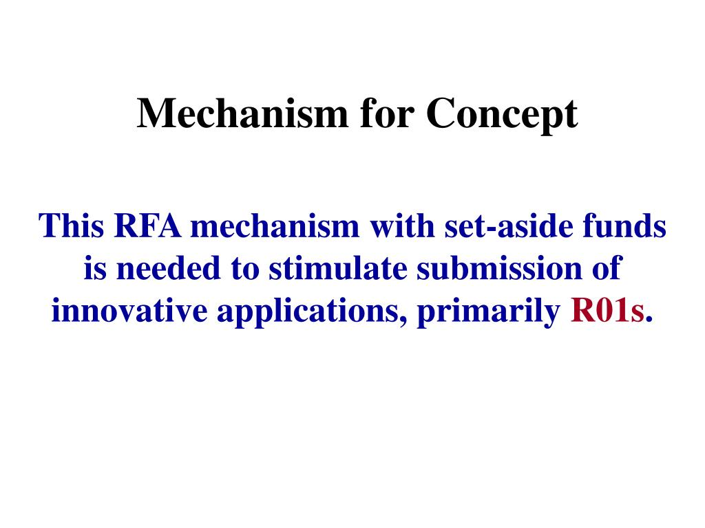 Mechanism for Concept