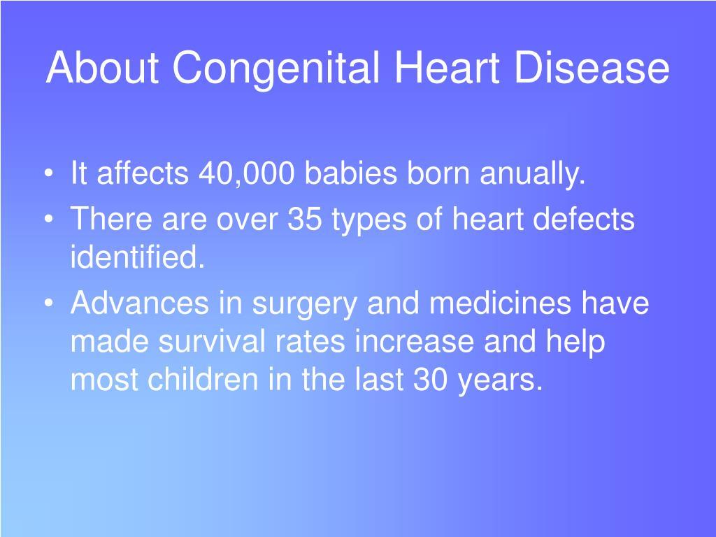 About Congenital Heart Disease