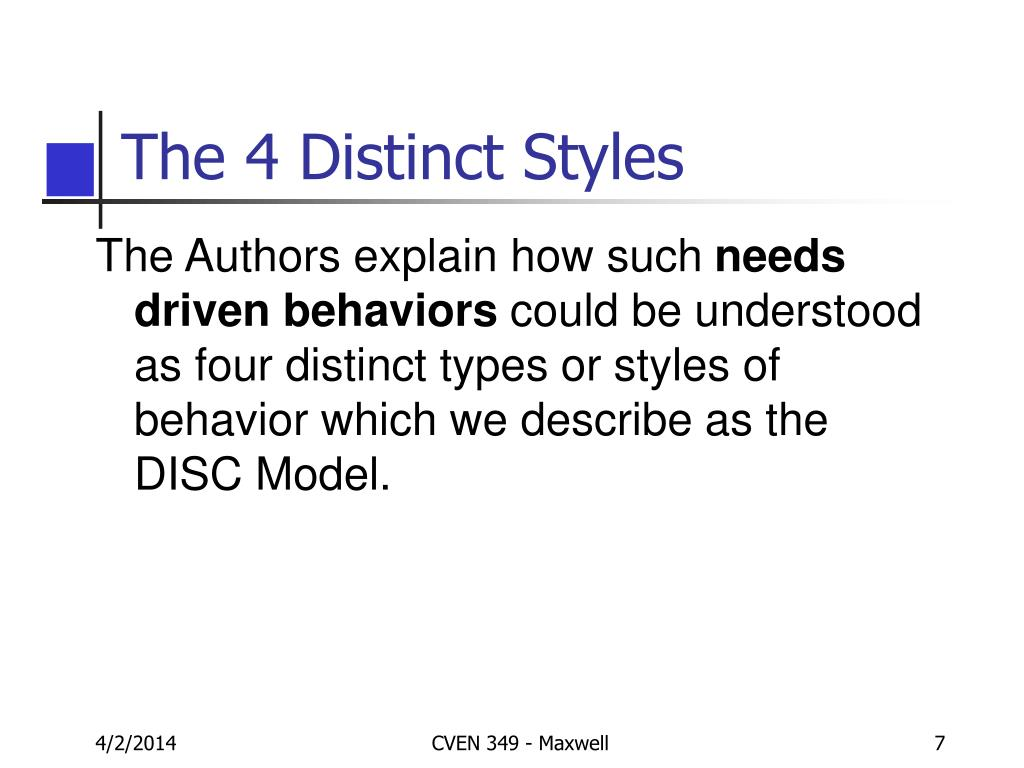 The 4 Distinct Styles