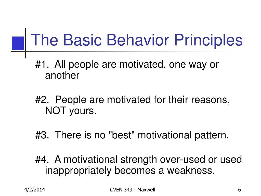 The Basic Behavior Principles