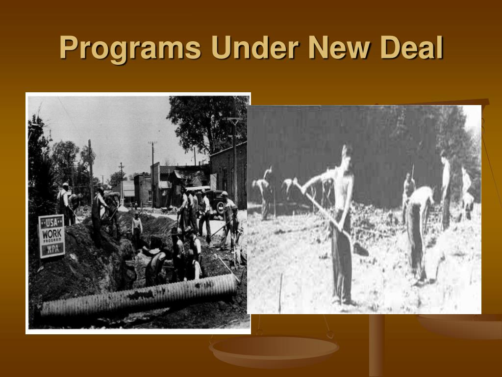 Programs Under New Deal