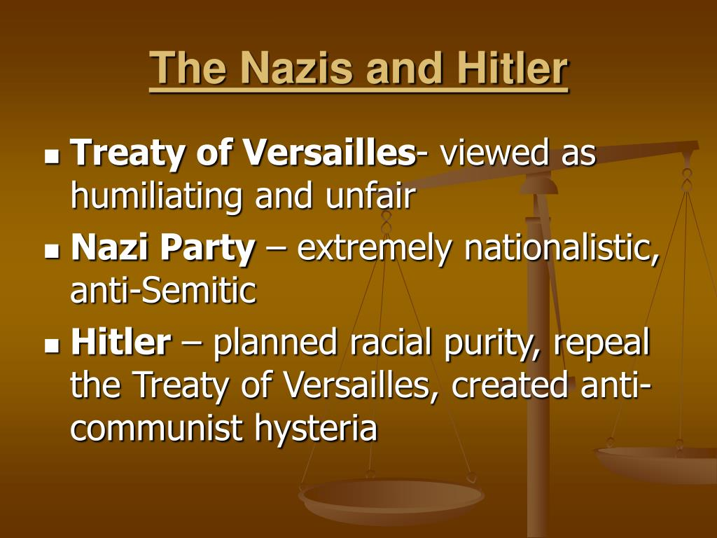 The Nazis and Hitler