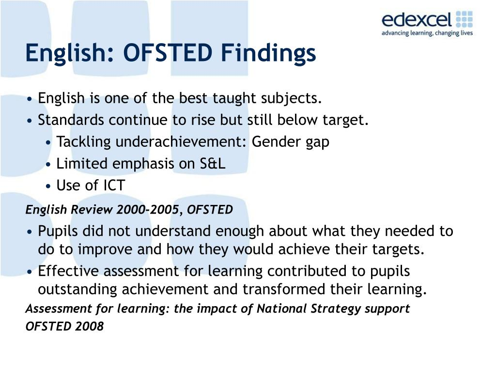English: OFSTED Findings