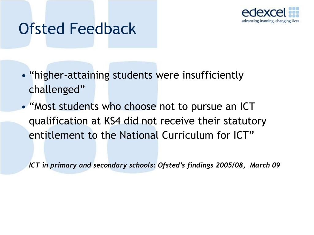 Ofsted Feedback