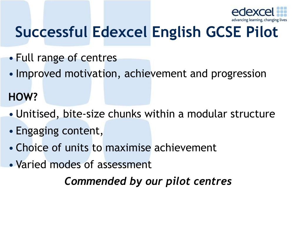 Successful Edexcel English GCSE Pilot