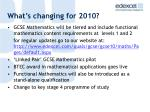 what s changing for 2010