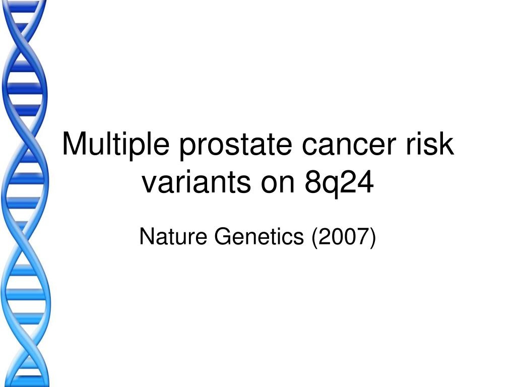 Multiple prostate cancer risk variants on 8q24