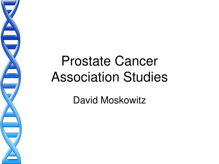 Prostate cancer association studies