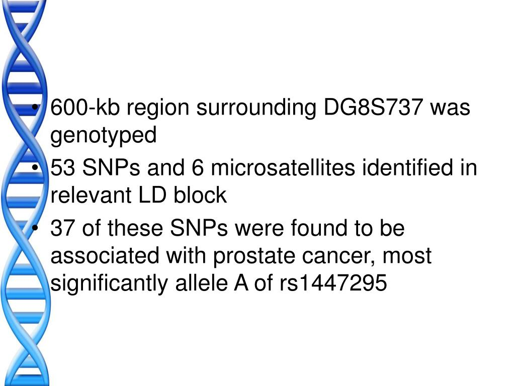 600-kb region surrounding DG8S737 was genotyped