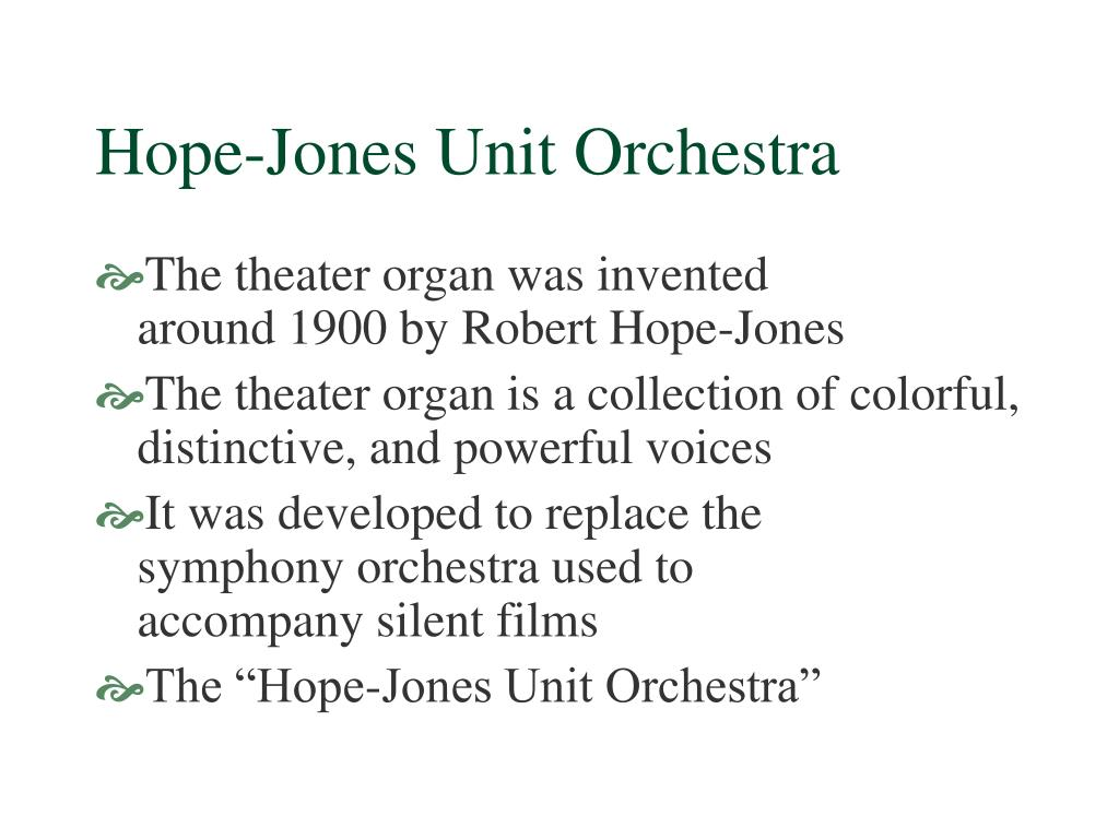 Hope-Jones Unit Orchestra