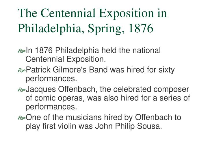 The centennial exposition in philadelphia spring 1876