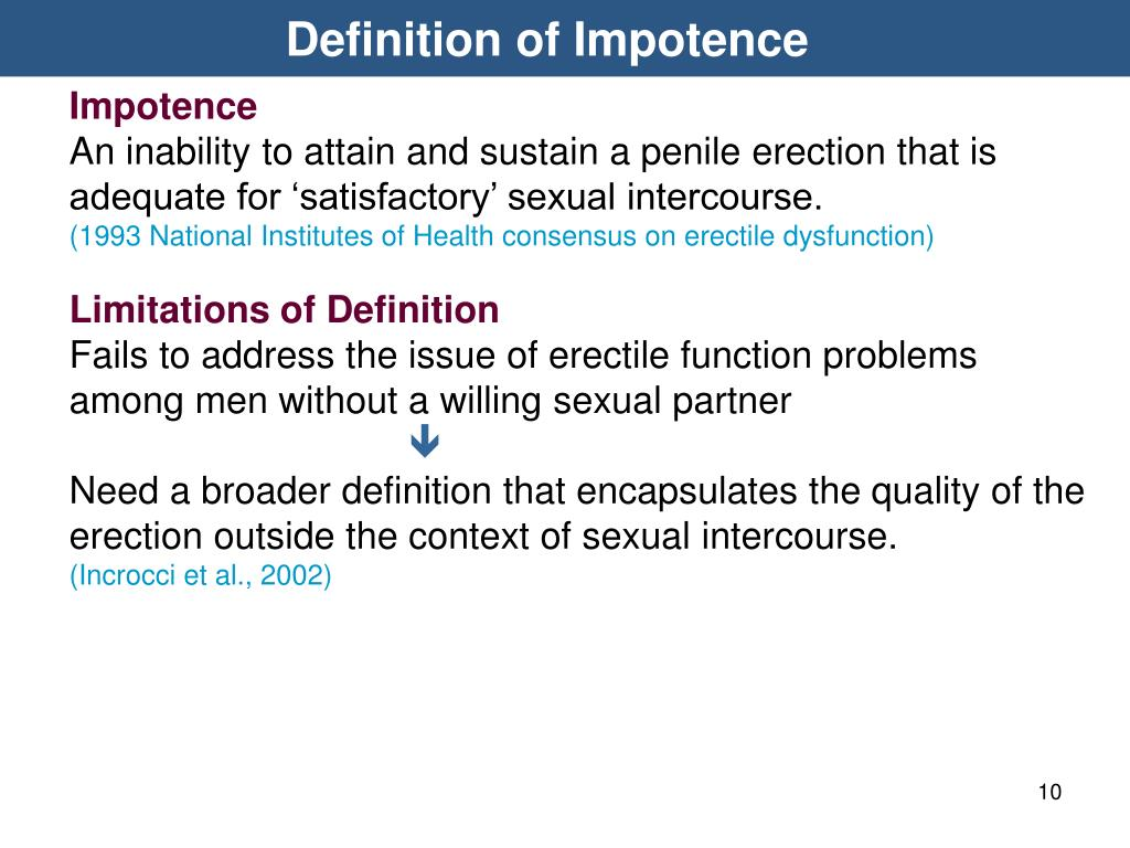 Definition of Impotence
