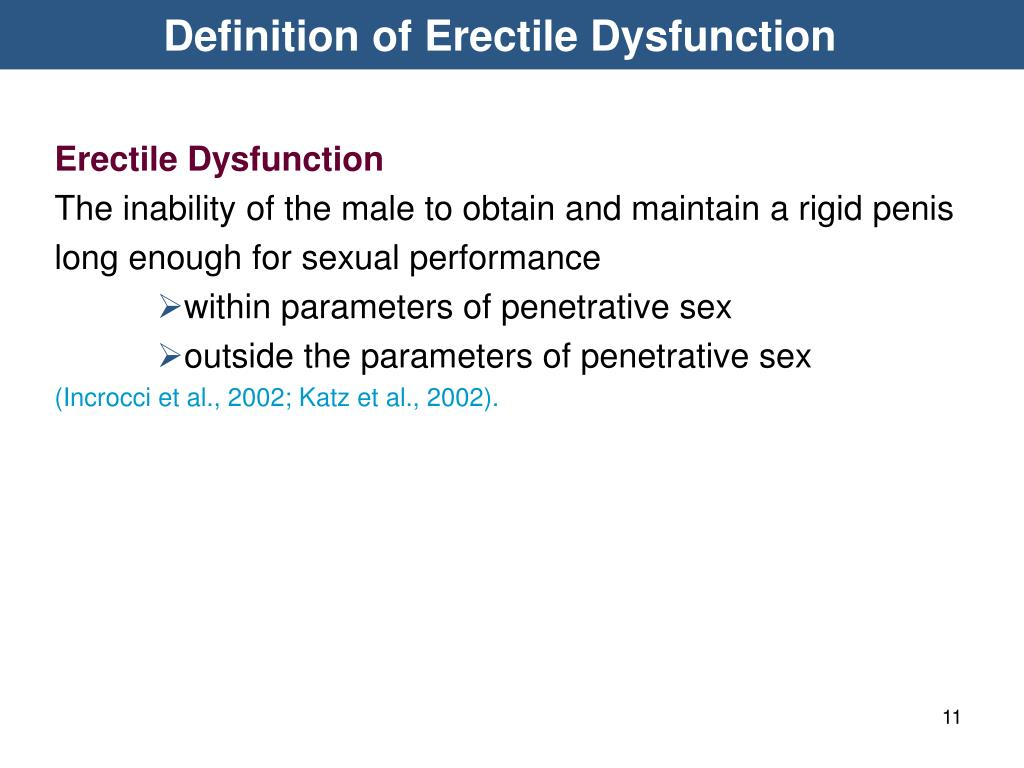Definition of Erectile Dysfunction