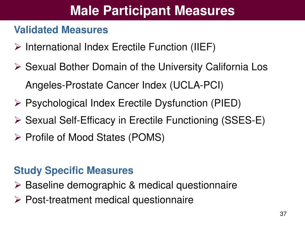 Male Participant Measures