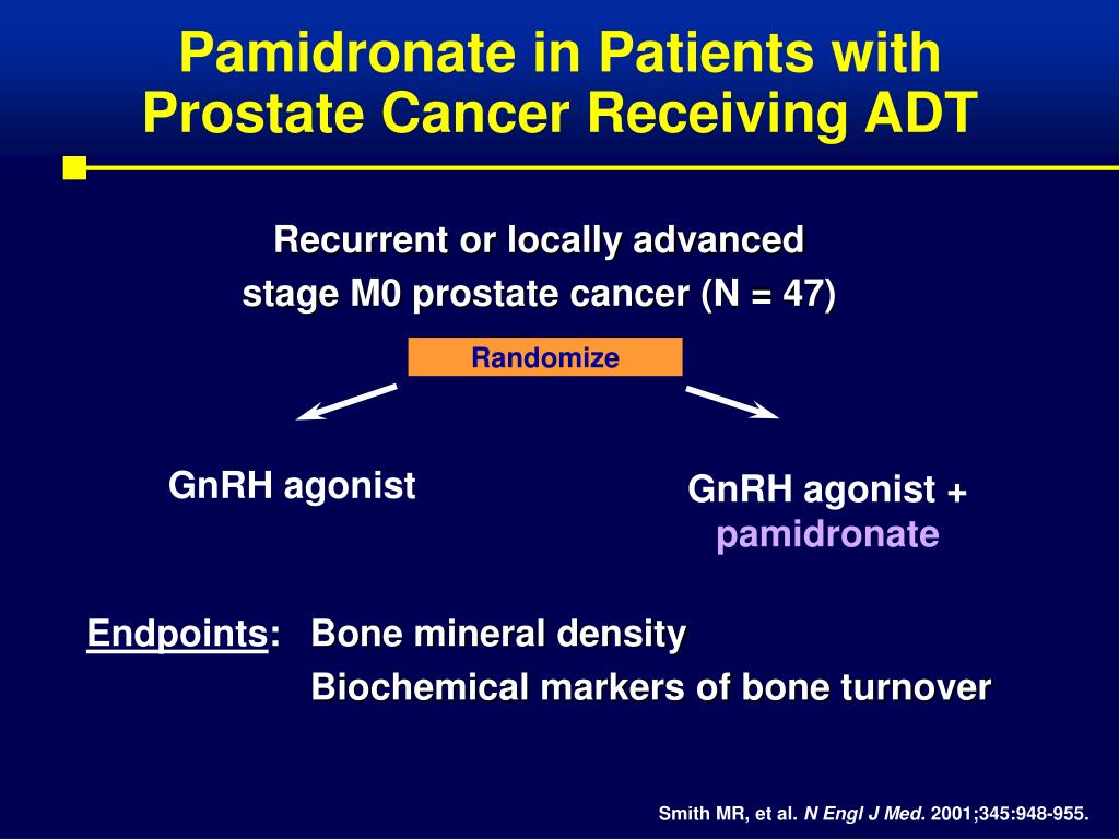 Pamidronate in Patients with Prostate Cancer Receiving ADT