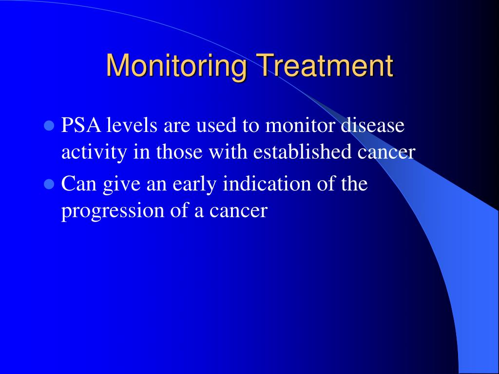 Monitoring Treatment