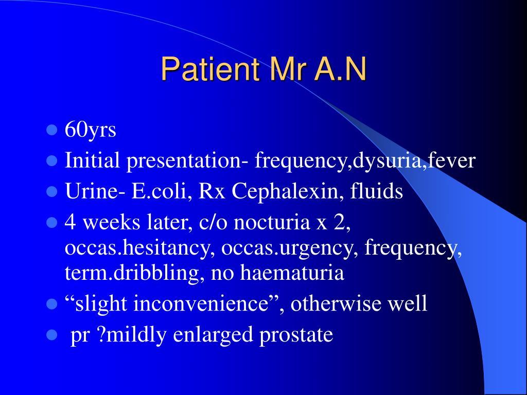 Patient Mr A.N