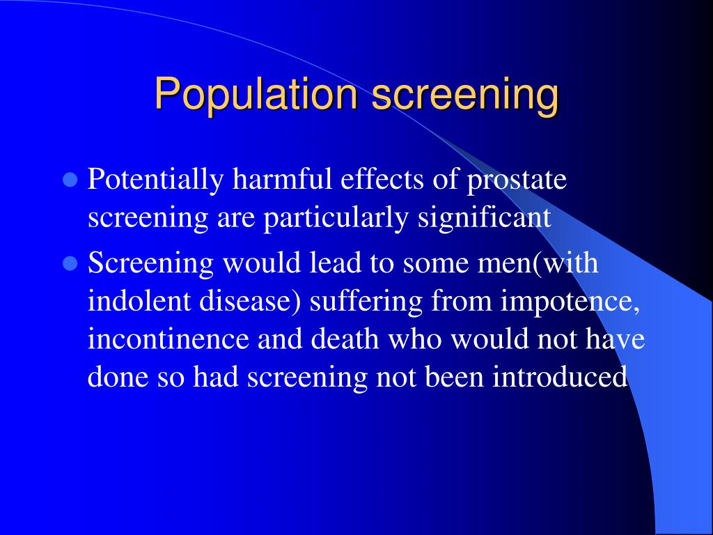 Population screening