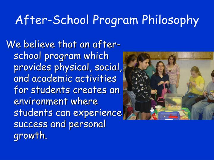 After-School Program Philosophy