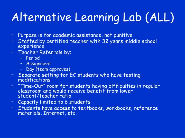 Alternative Learning Lab (ALL)