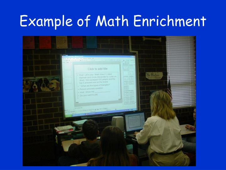 Example of Math Enrichment