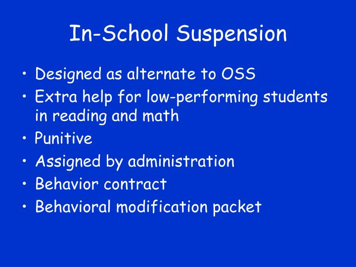 In-School Suspension