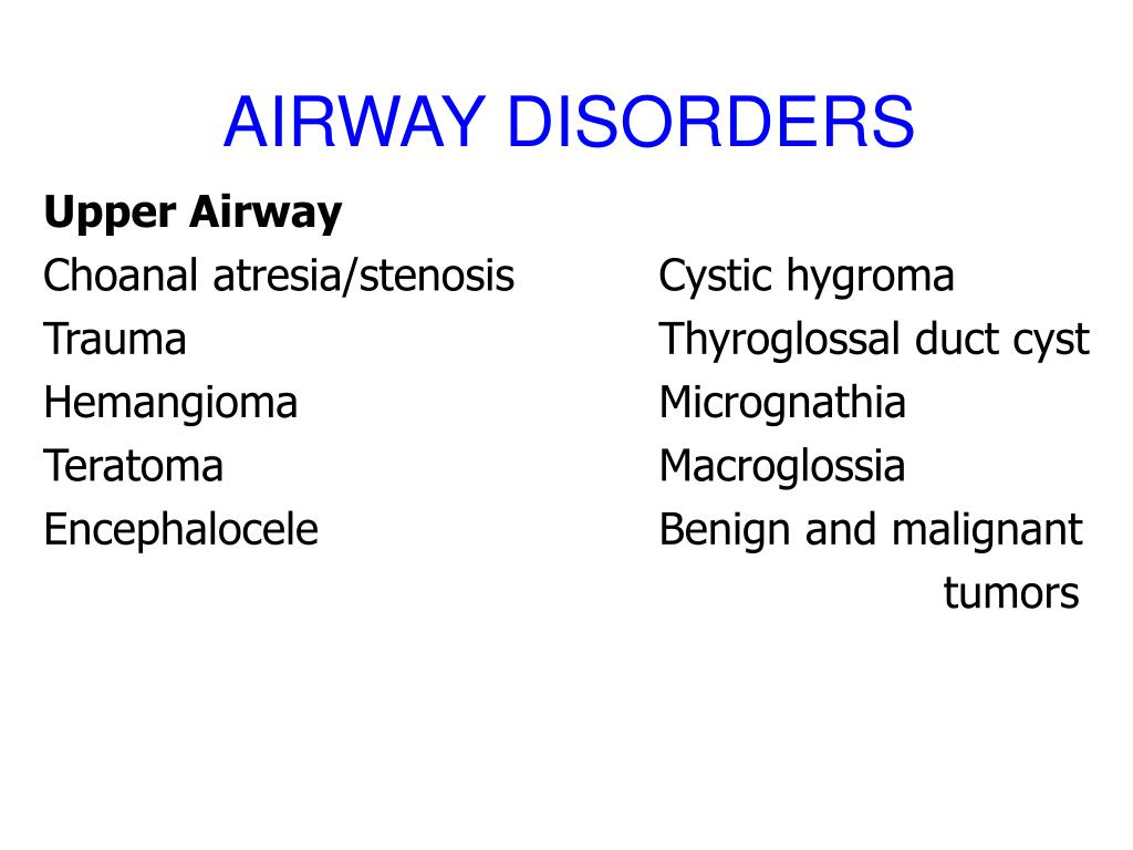AIRWAY DISORDERS