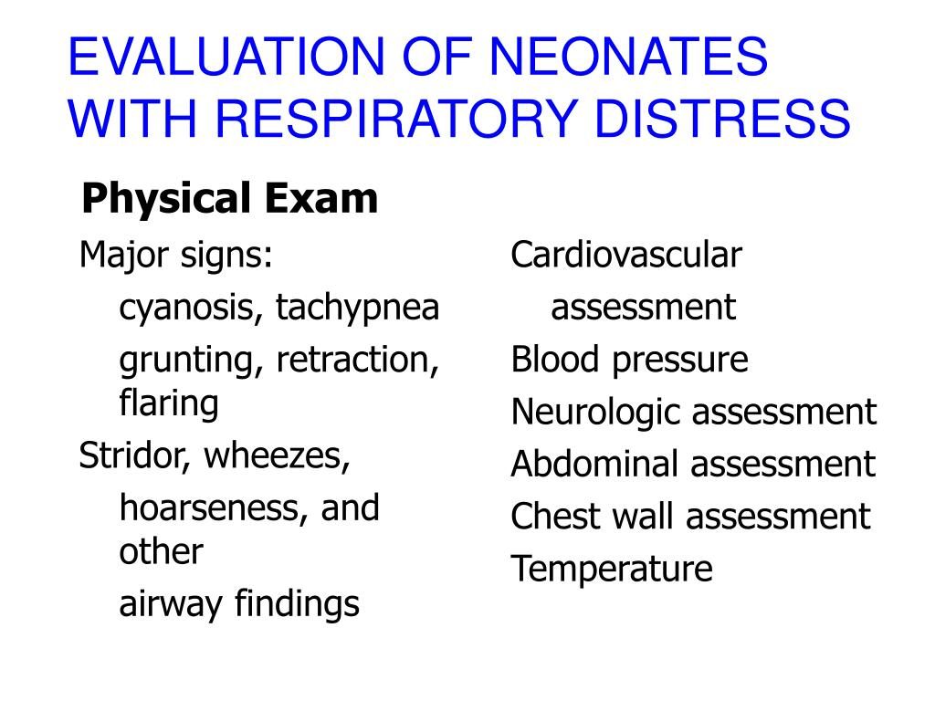 EVALUATION OF NEONATES