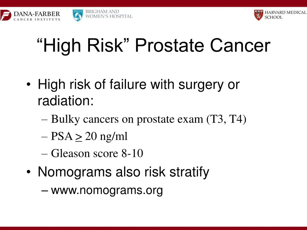"""High Risk"" Prostate Cancer"