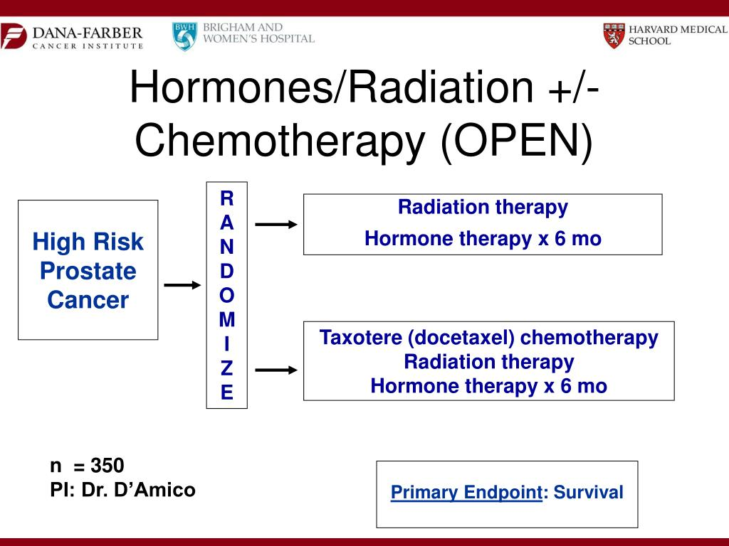 Hormones/Radiation +/- Chemotherapy (OPEN)